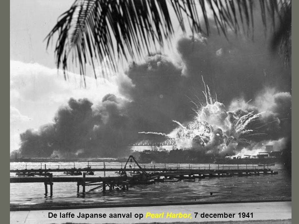 De laffe Japanse aanval op Pearl Harbor, 7 december 1941