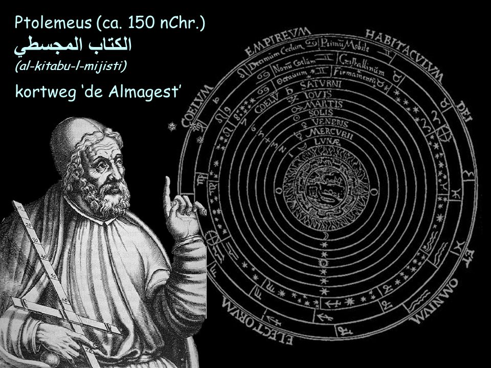 الكتاب المجسطي Ptolemeus (ca. 150 nChr.) kortweg 'de Almagest'