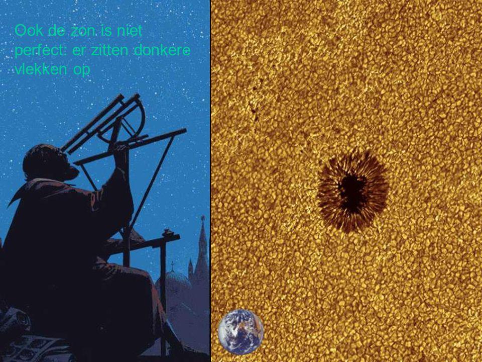Ook de zon is niet perfect: er zitten donkere vlekken op