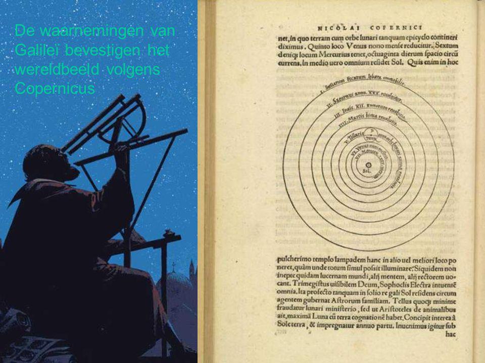 De waarnemingen van Galileï bevestigen het wereldbeeld volgens Copernicus