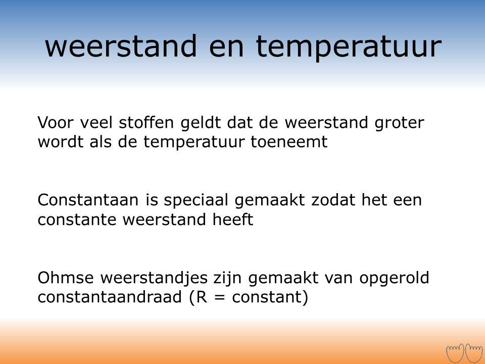 weerstand en temperatuur