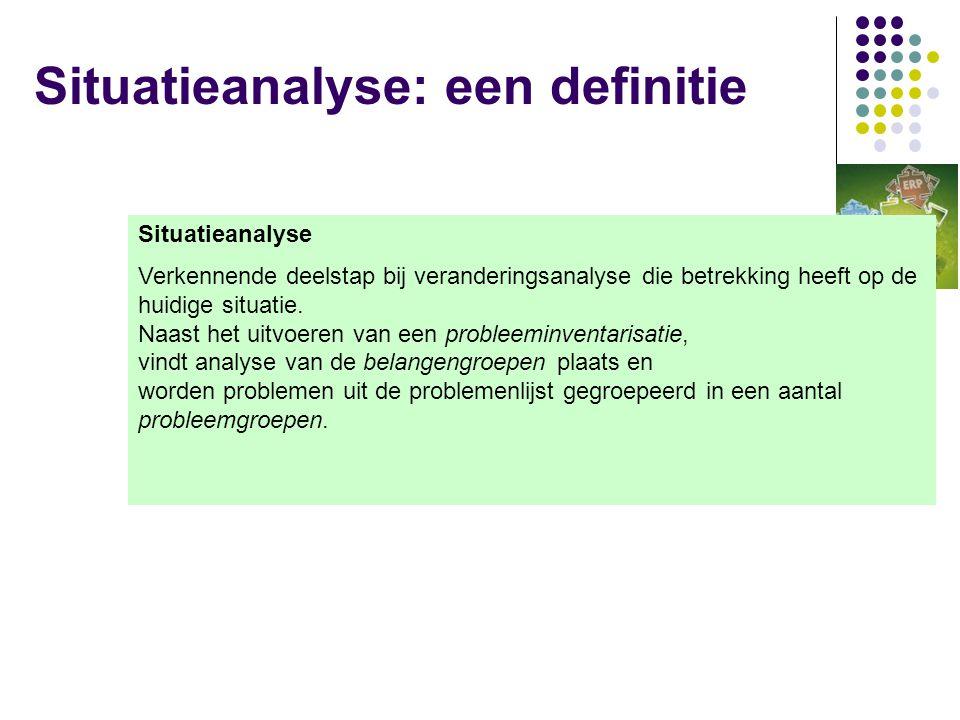 Situatieanalyse: een definitie