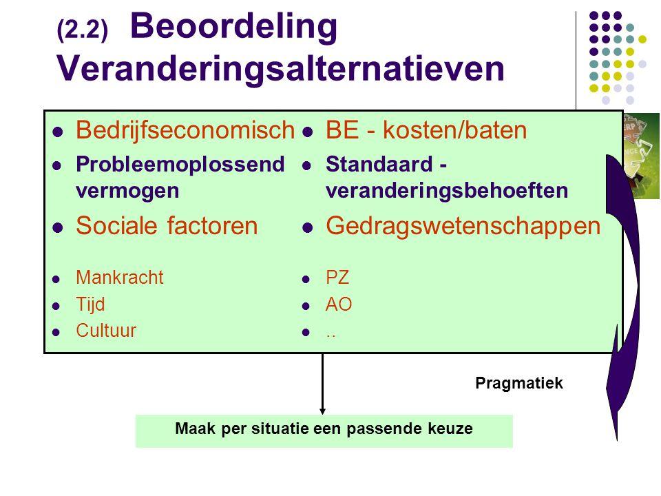 (2.2) Beoordeling Veranderingsalternatieven