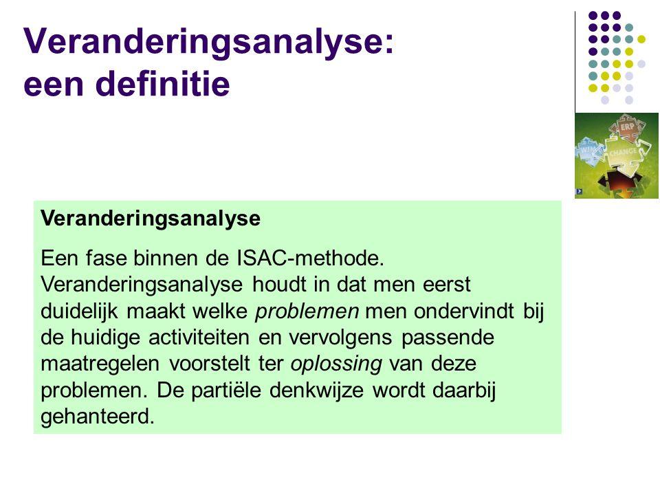 Veranderingsanalyse: een definitie
