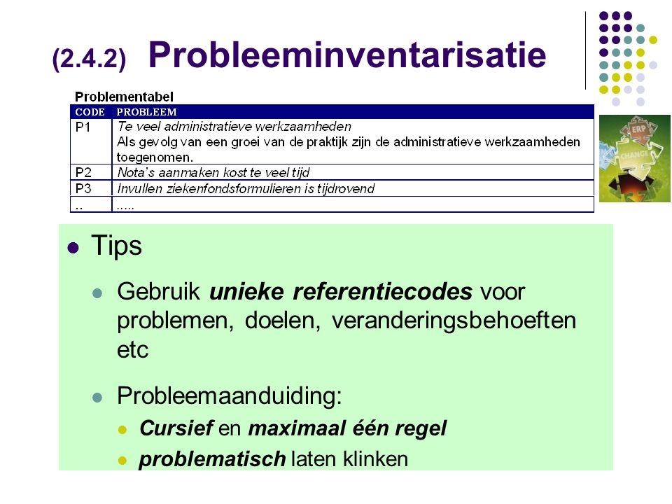 (2.4.2) Probleeminventarisatie