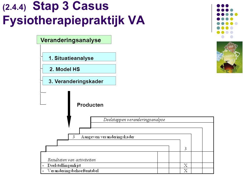 (2.4.4) Stap 3 Casus Fysiotherapiepraktijk VA