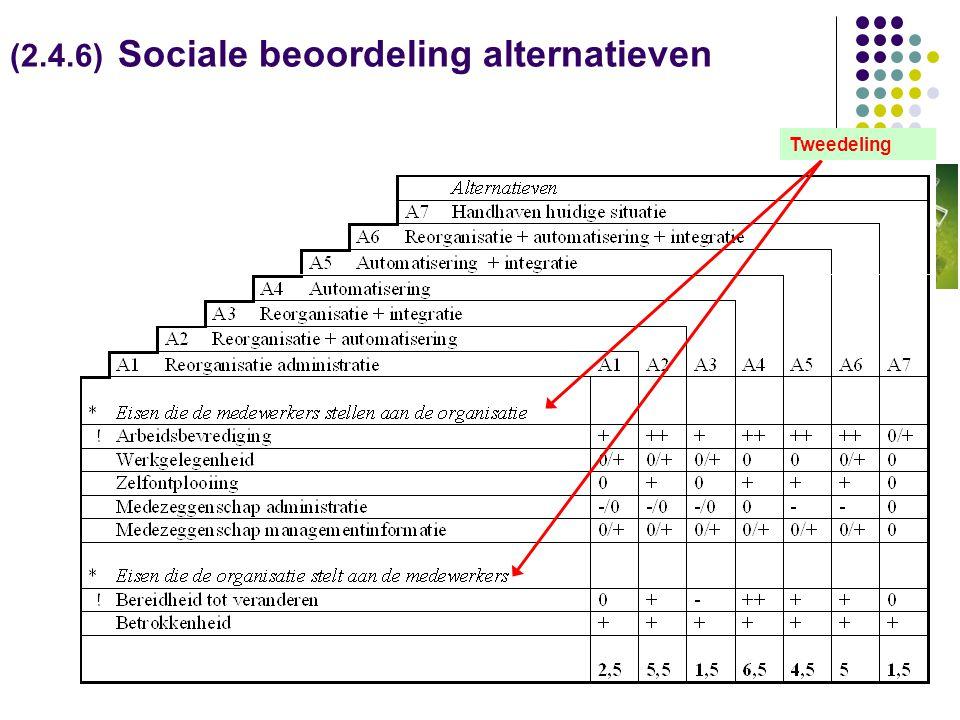 (2.4.6) Sociale beoordeling alternatieven