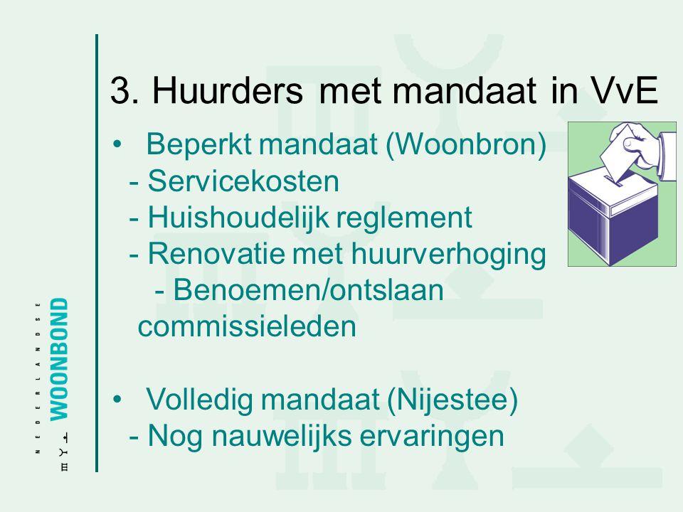 3. Huurders met mandaat in VvE