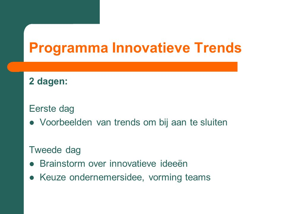 Programma Innovatieve Trends