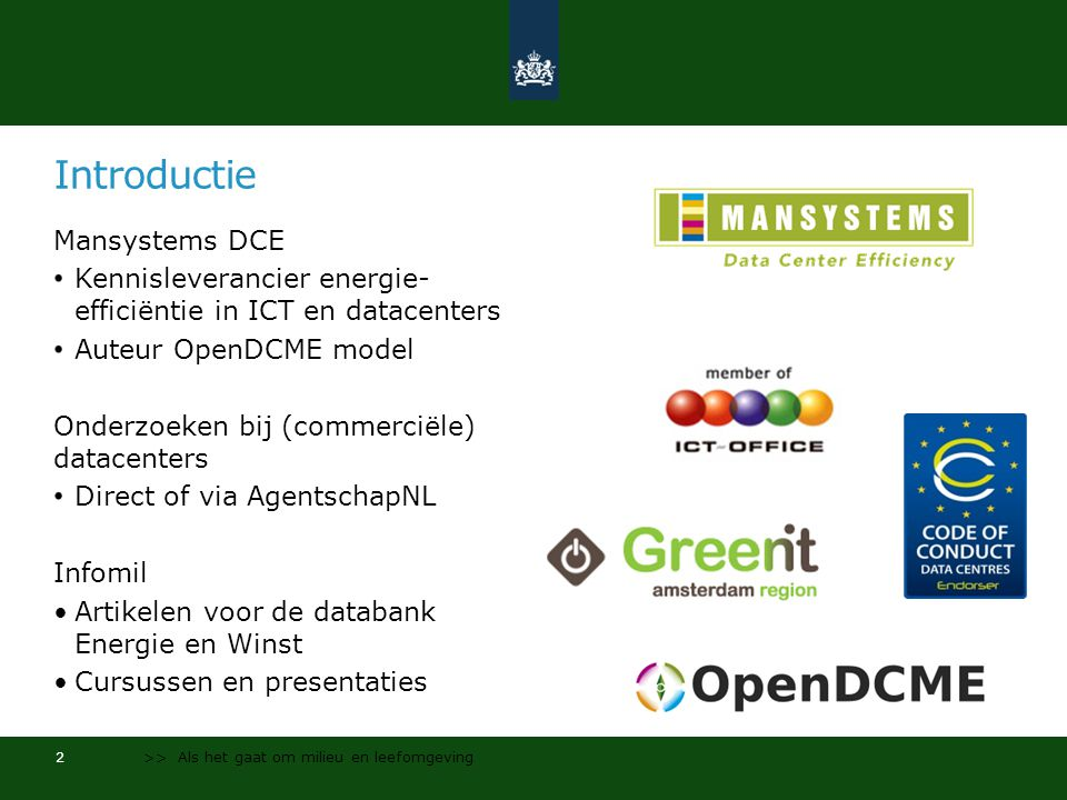Introductie Mansystems DCE