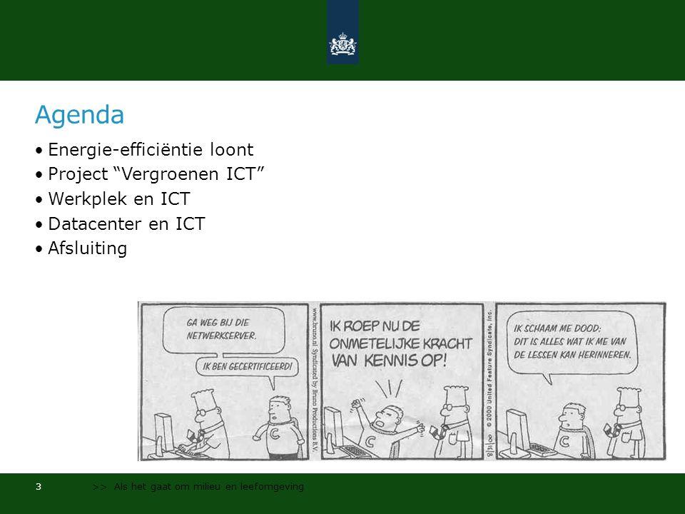 Agenda Energie-efficiëntie loont Project Vergroenen ICT