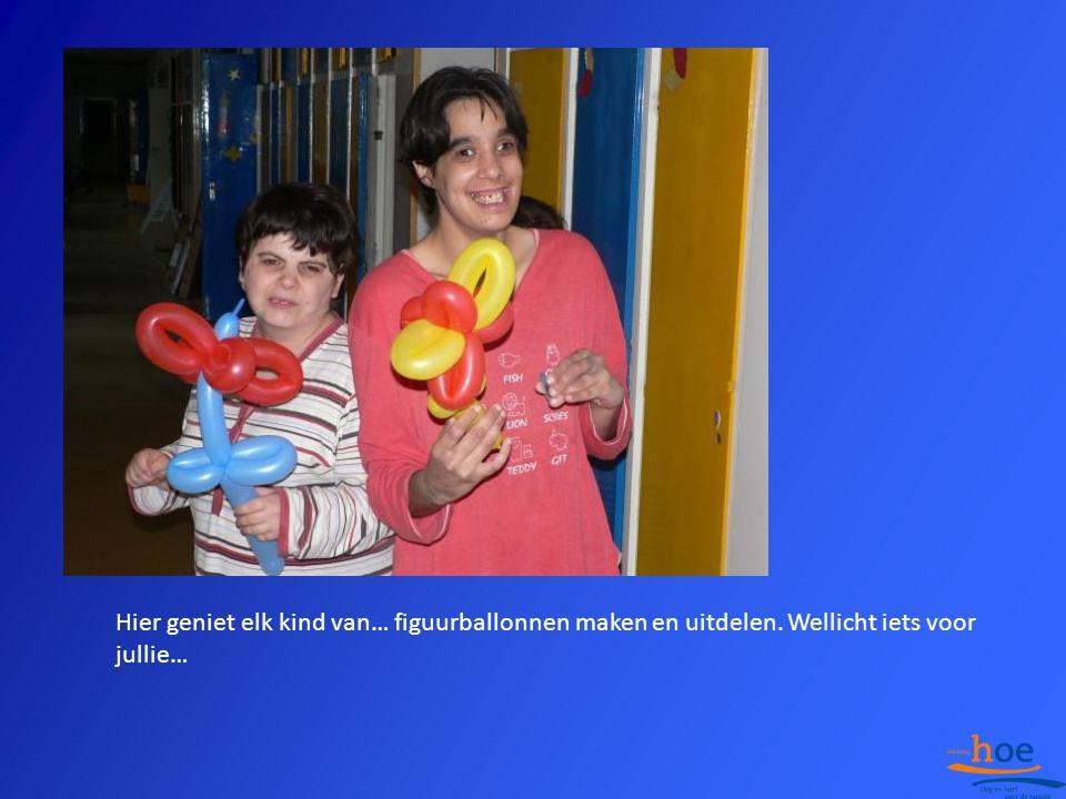 Hier geniet elk kind van… figuurballonnen maken en uitdelen