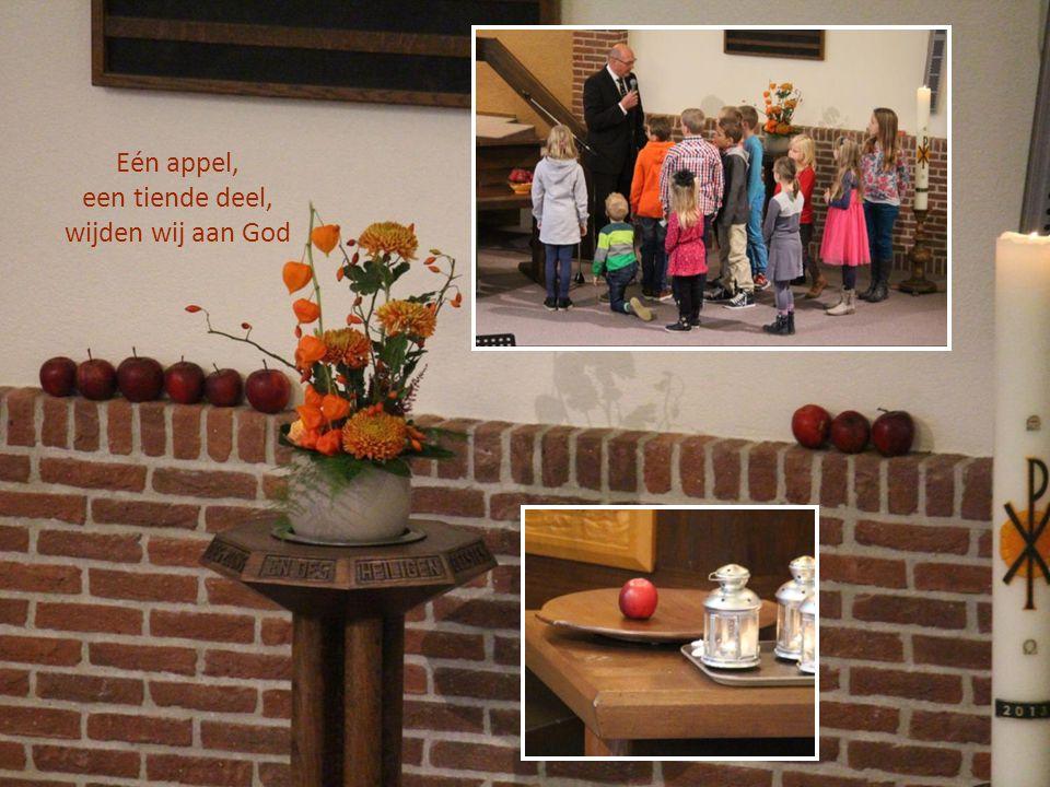 Eén appel, een tiende deel, wijden wij aan God