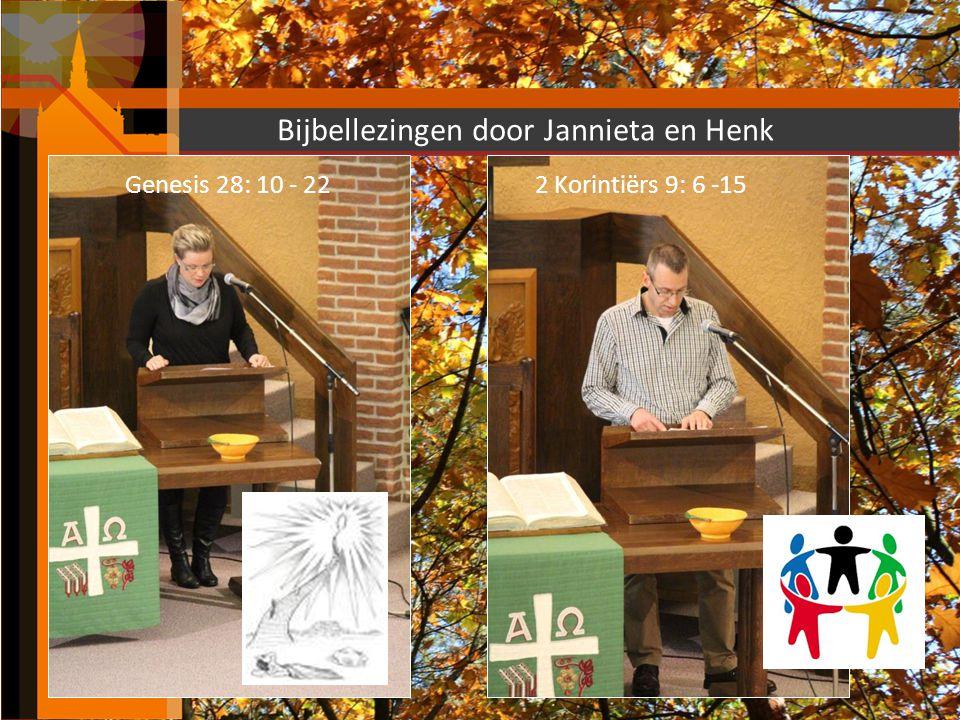 Bijbellezingen door Jannieta en Henk