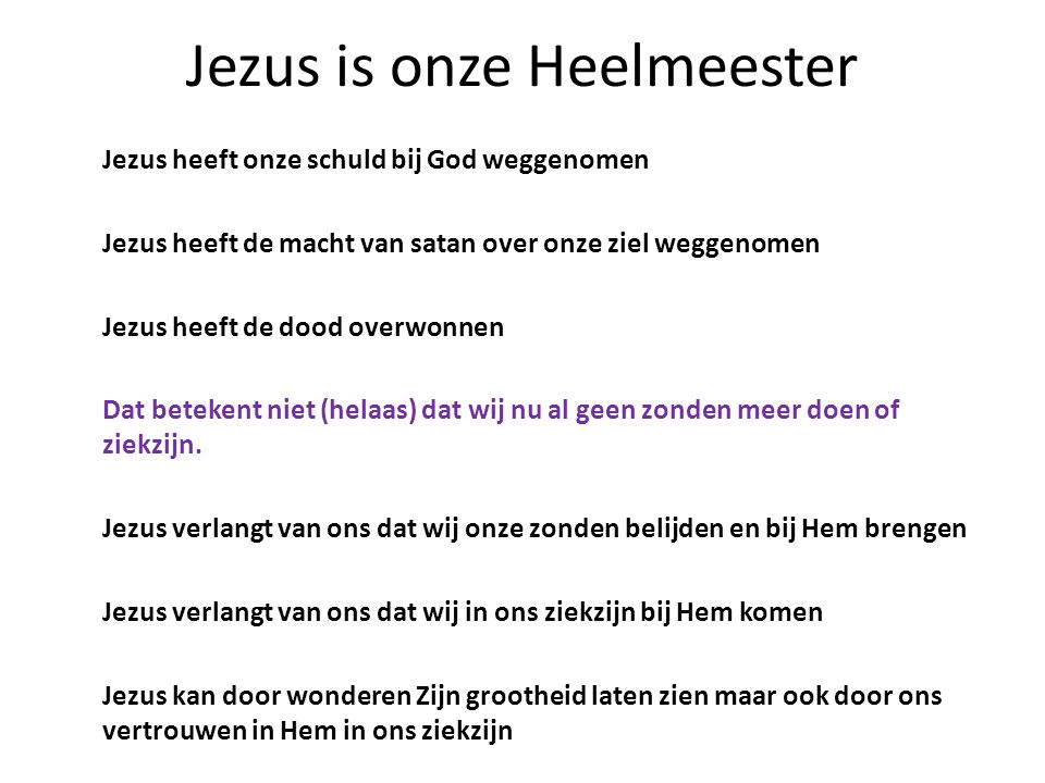 Jezus is onze Heelmeester