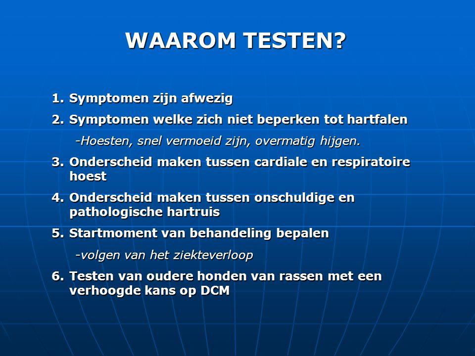 WAAROM TESTEN Symptomen zijn afwezig