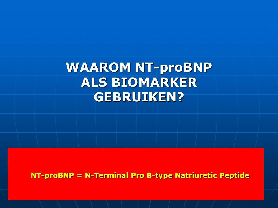 WAAROM NT-proBNP ALS BIOMARKER GEBRUIKEN