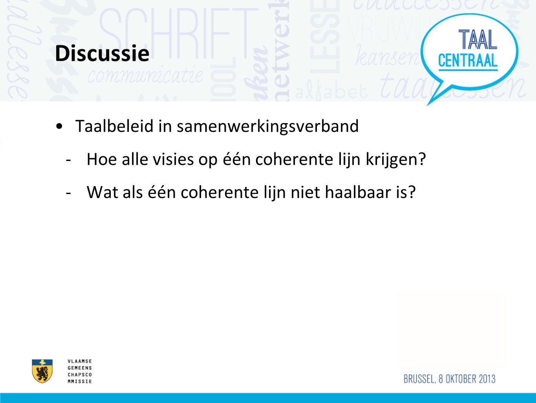 Discussie Taalbeleid in samenwerkingsverband