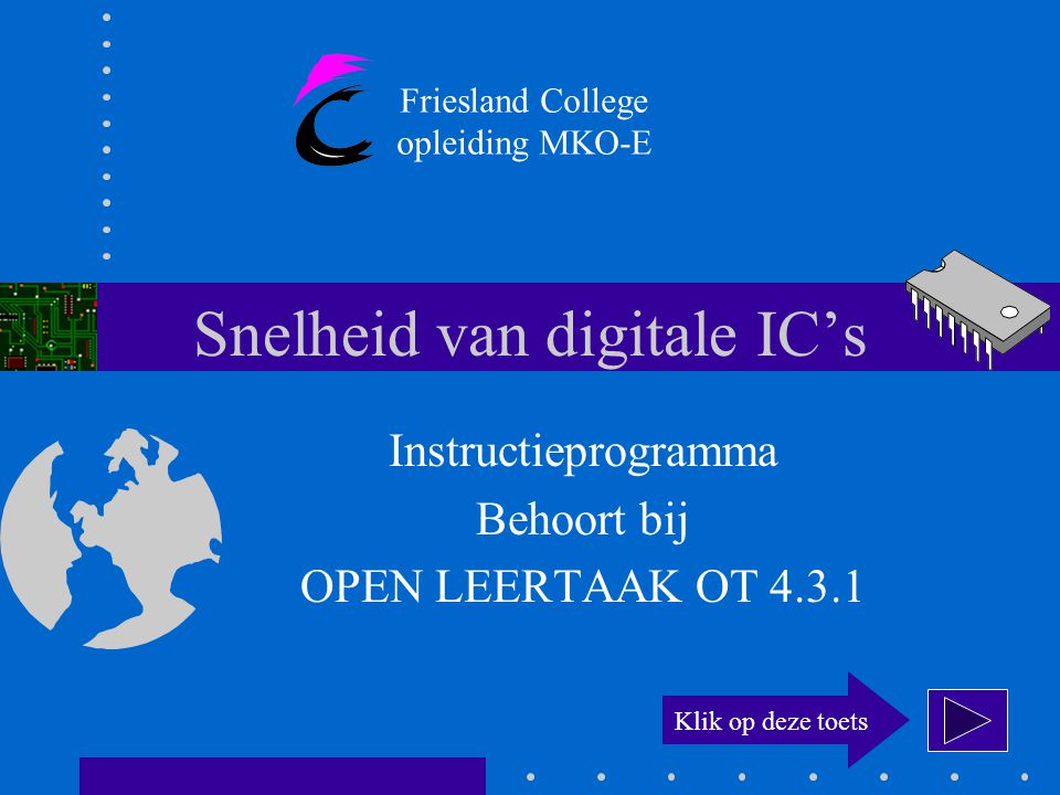 Snelheid van digitale IC's