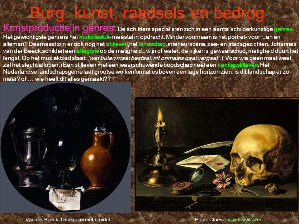 Burg. kunst, raadsels en bedrog