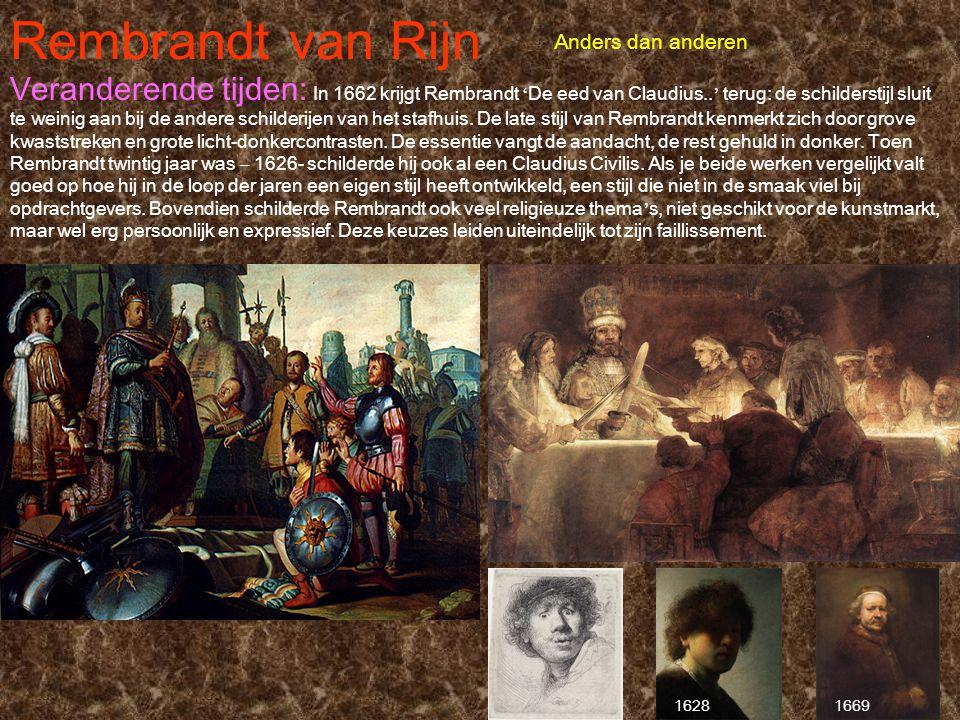 Rembrandt van Rijn Anders dan anderen.