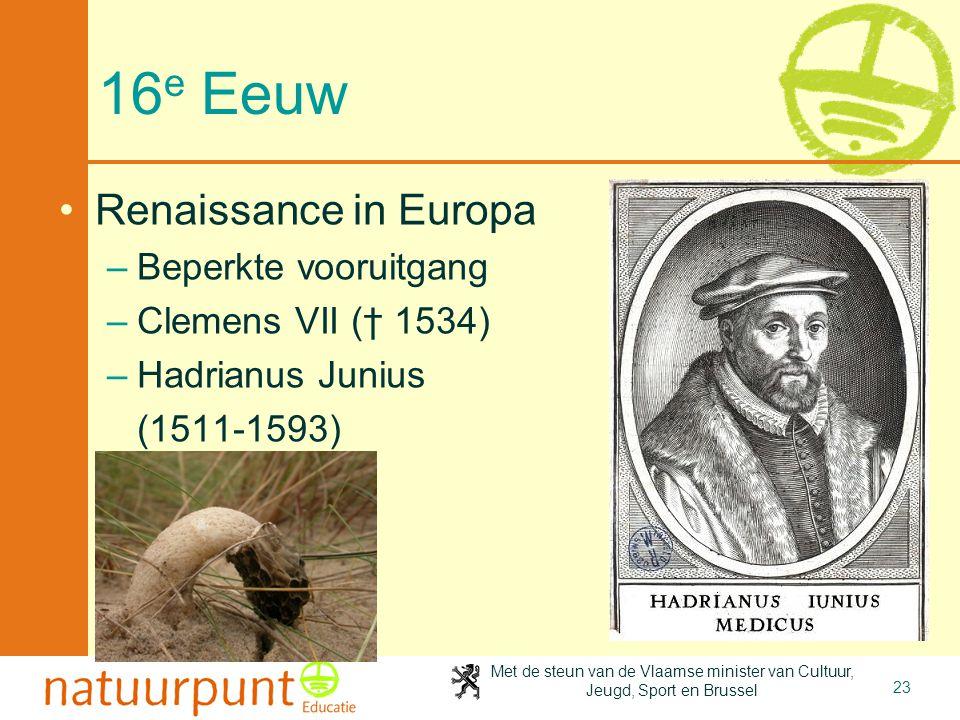 16e Eeuw Renaissance in Europa Beperkte vooruitgang