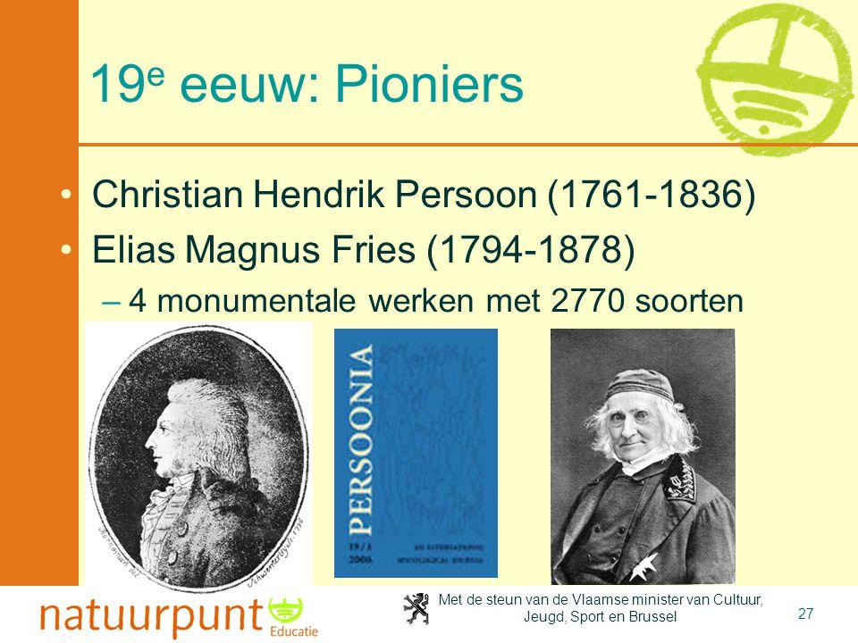 19e eeuw: Pioniers Christian Hendrik Persoon (1761-1836)