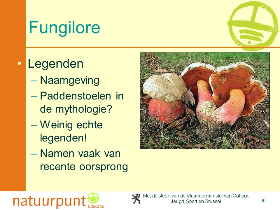 Fungilore Legenden Naamgeving Paddenstoelen in de mythologie