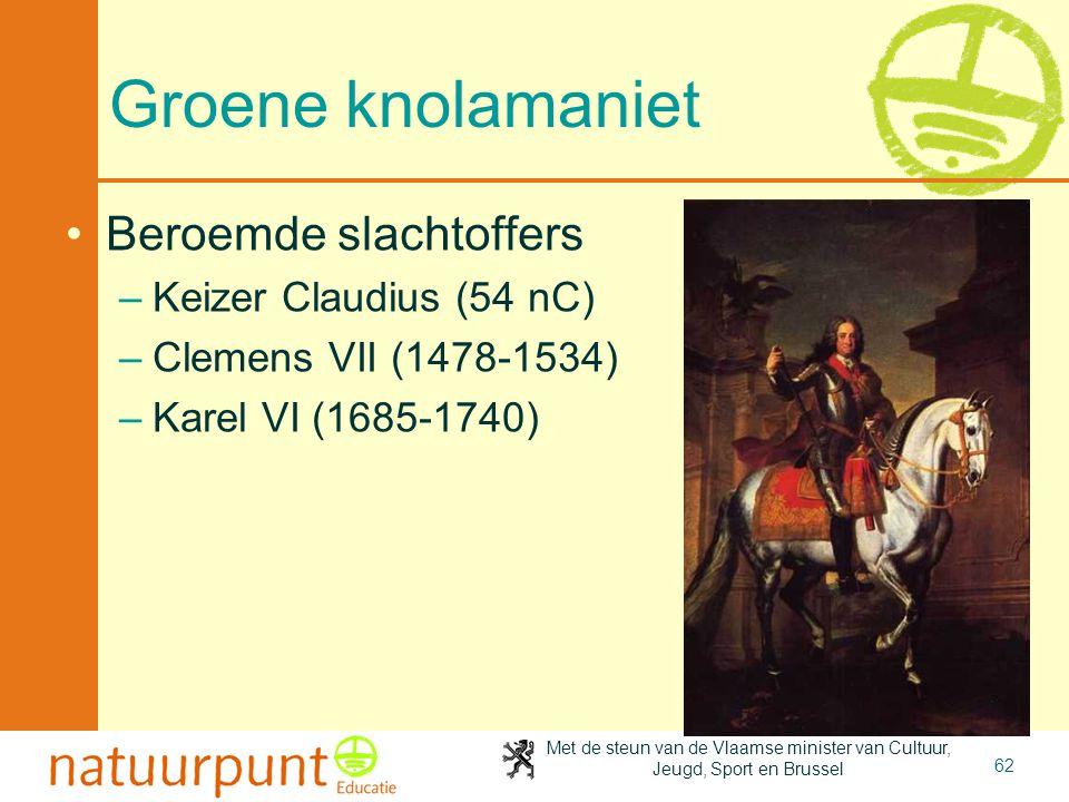 Groene knolamaniet Beroemde slachtoffers Keizer Claudius (54 nC)