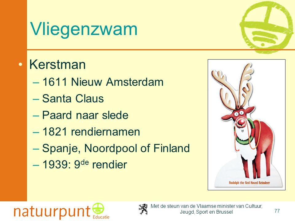 Vliegenzwam Kerstman 1611 Nieuw Amsterdam Santa Claus Paard naar slede