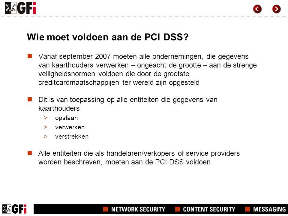 Wie moet voldoen aan de PCI DSS