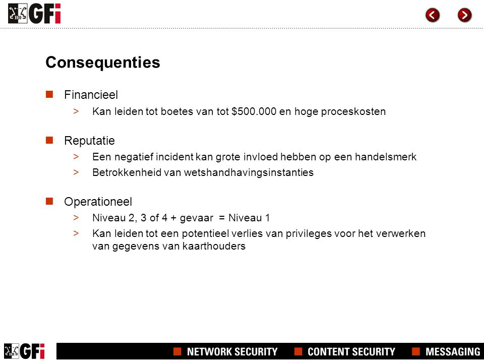 Consequenties Financieel Reputatie Operationeel