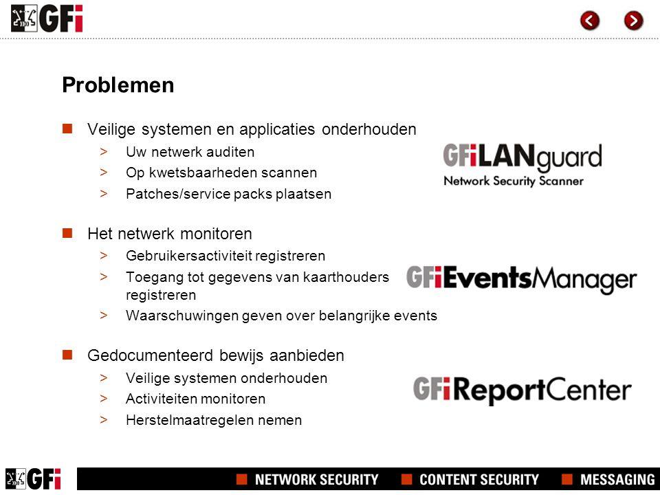 Problemen Veilige systemen en applicaties onderhouden