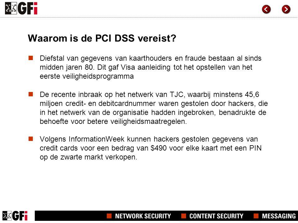 Waarom is de PCI DSS vereist