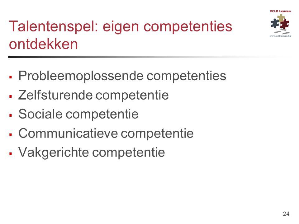 Talentenspel: eigen competenties ontdekken