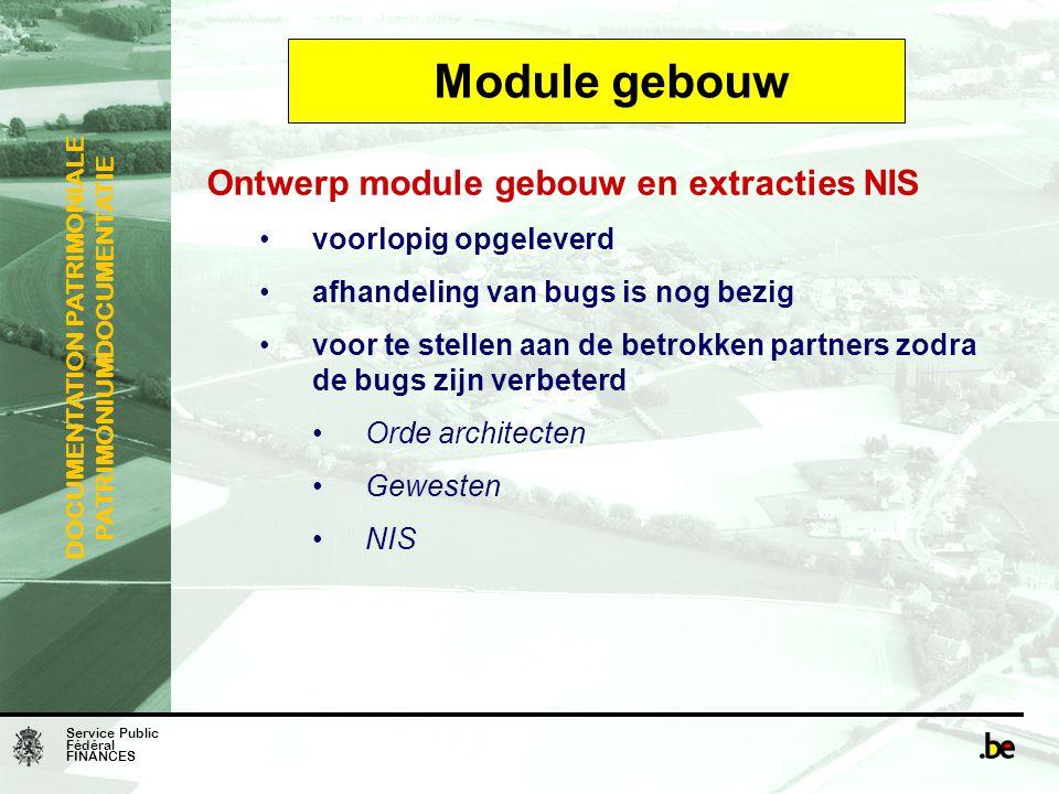 Module gebouw Ontwerp module gebouw en extracties NIS