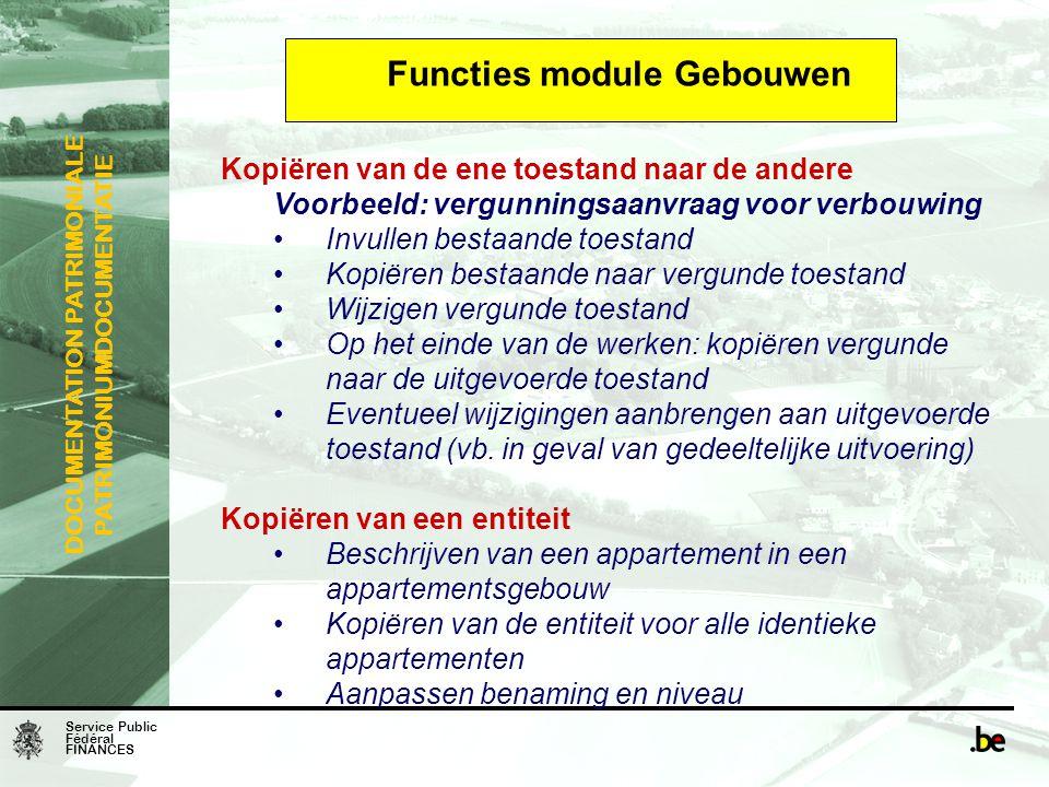 Functies module Gebouwen
