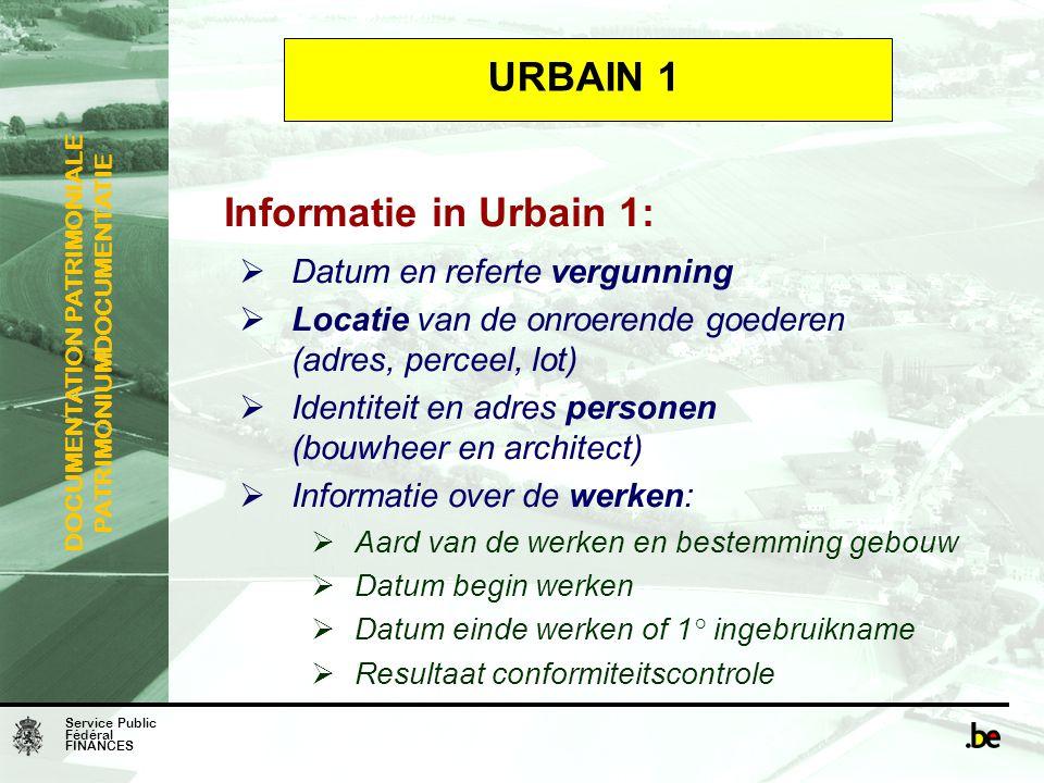 URBAIN 1 Informatie in Urbain 1: Datum en referte vergunning