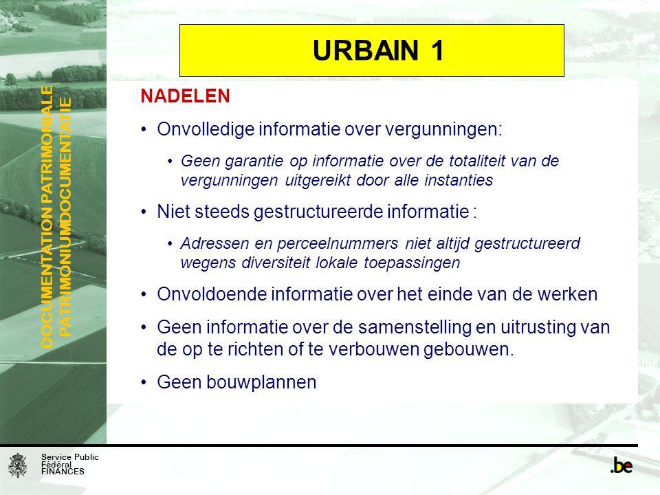 URBAIN 1 NADELEN Onvolledige informatie over vergunningen: