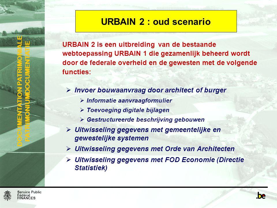 URBAIN 2 : oud scenario Invoer bouwaanvraag door architect of burger