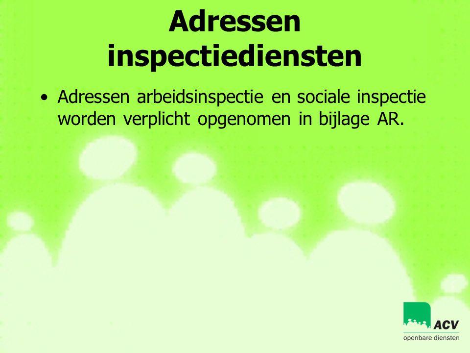 Adressen inspectiediensten