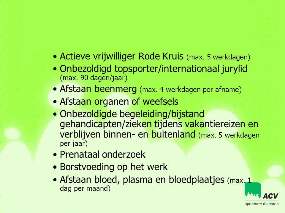 Actieve vrijwilliger Rode Kruis (max. 5 werkdagen)
