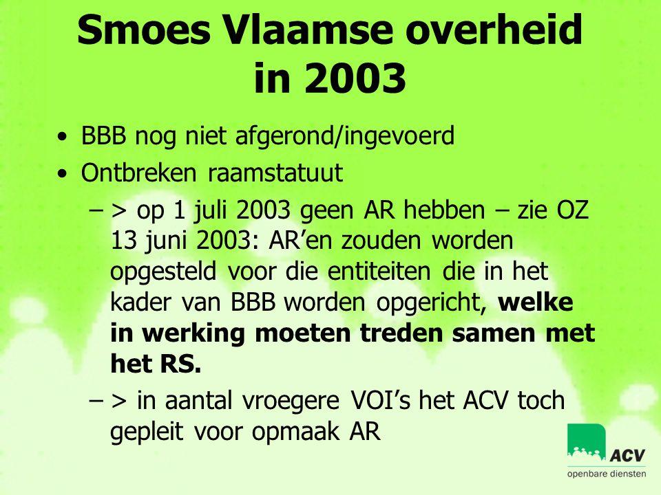 Smoes Vlaamse overheid in 2003