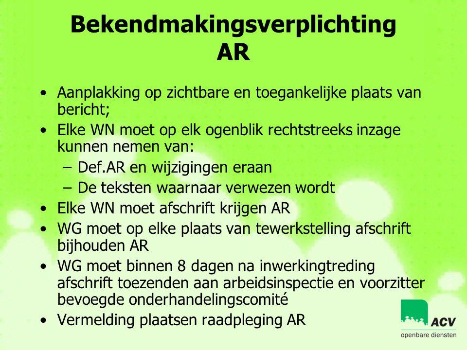Bekendmakingsverplichting AR