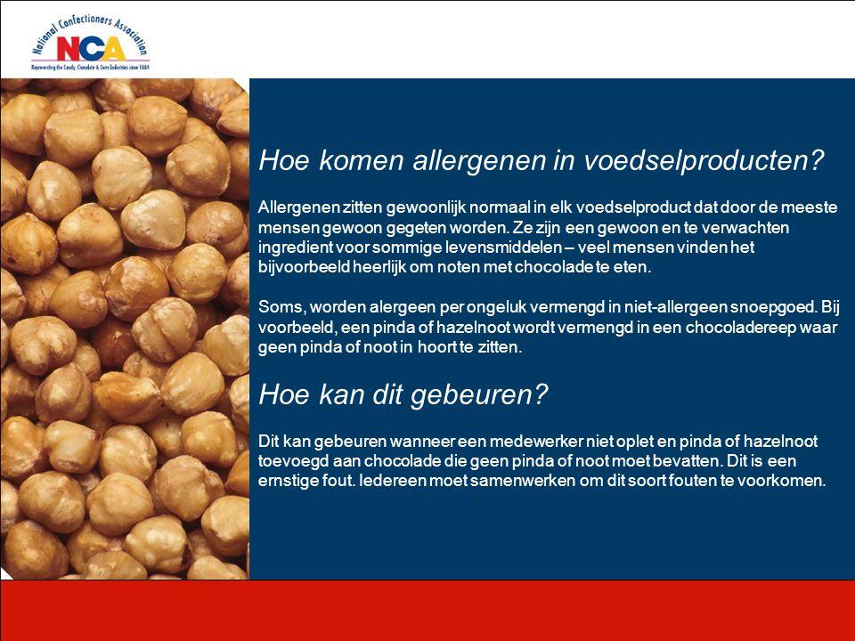 Hoe komen allergenen in voedselproducten