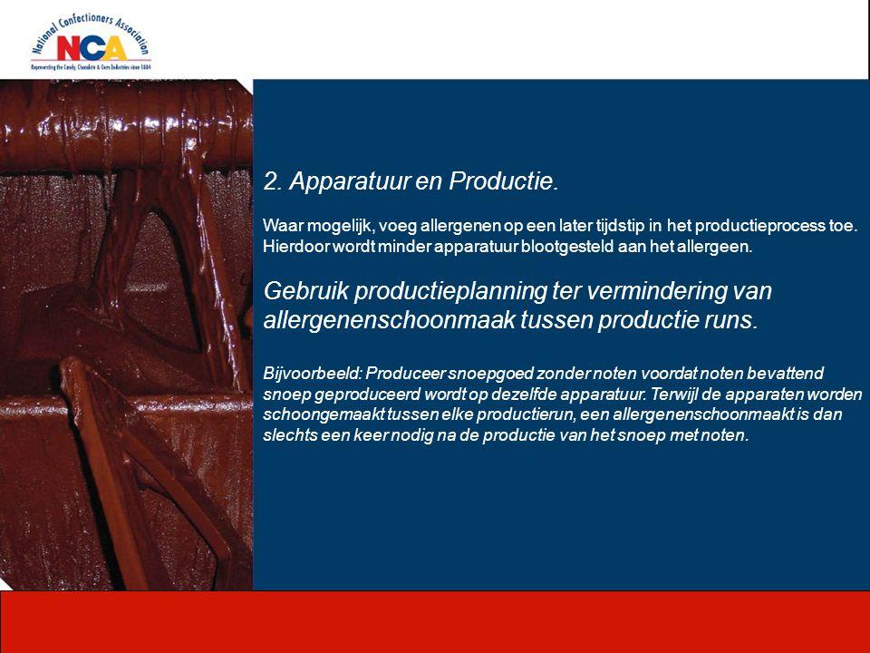 2. Apparatuur en Productie.