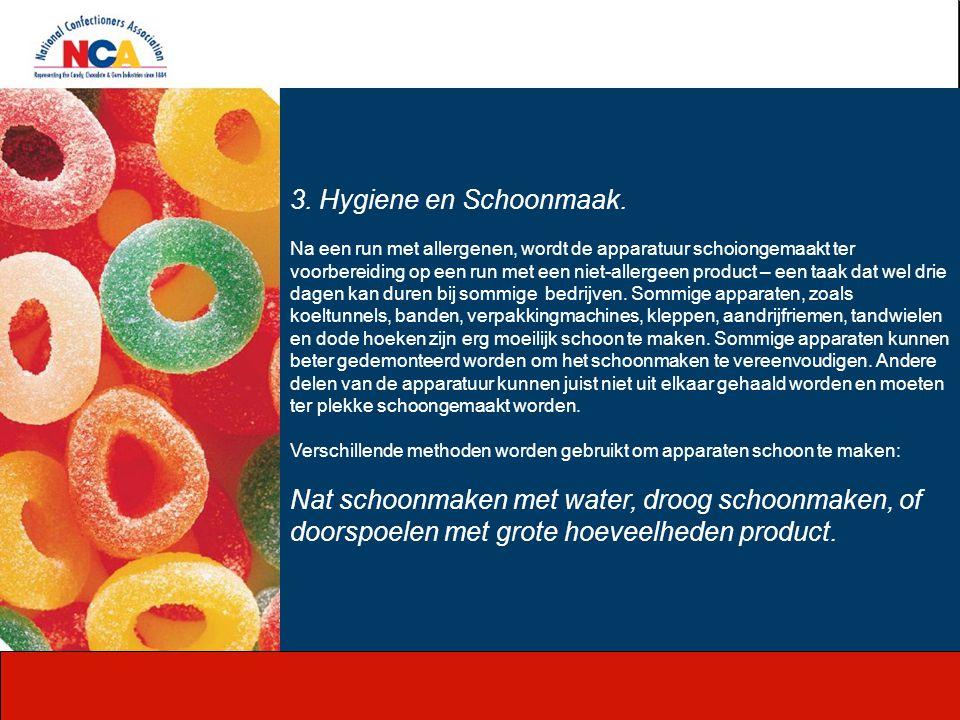 3. Hygiene en Schoonmaak.