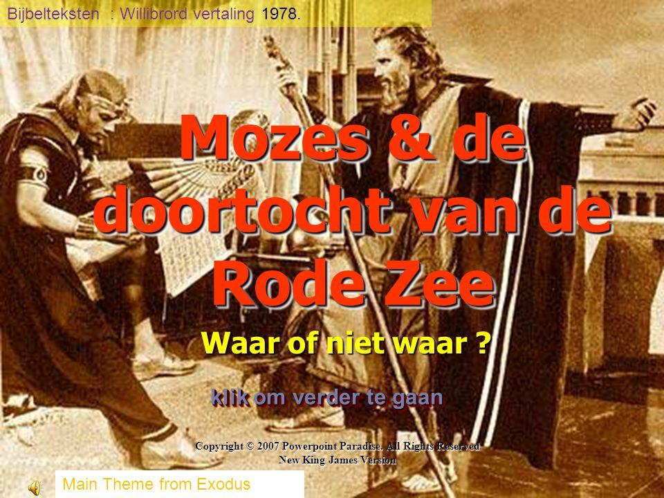 Mozes & de doortocht van de Rode Zee