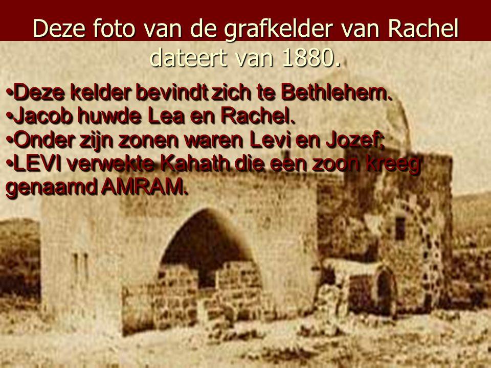 Deze foto van de grafkelder van Rachel dateert van 1880.