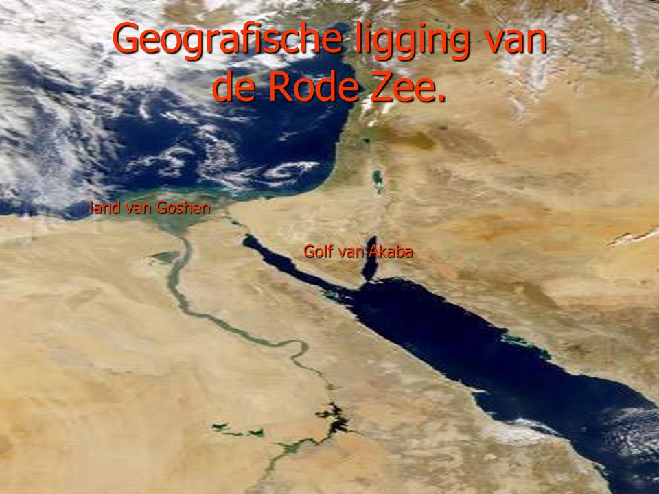 Geografische ligging van de Rode Zee.